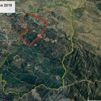 Mapa Mancha Ferrenha 23 nov 2019