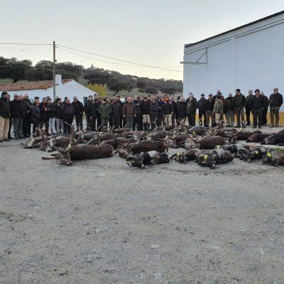 Grupo de Caçadores e alguns dos exemplares caçados 23 nov 2019